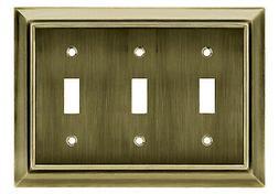 Brainerd Mfg Co/Liberty Hdw W10599-AB-U Toggle Wall Plate, 3