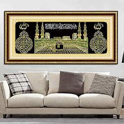 Mosaic Decor - 5d Diamonds Embroidery Islam Muslim Holy Kaab