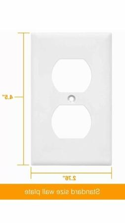 Mulberry 32101 Duplex Receptacle Wall Plate 1-Gang Outlet Co