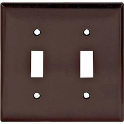 Cooper Wiring Devices 2139B Double Toggle Brown Wall Plate