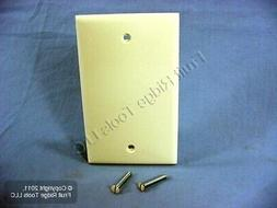 New Leviton Almond 1-Gang Blank Unbreakable Wall Plate Box N