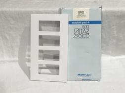 NEW LUTRON DIVA SATIN COLORS-SNOW COLOR SC-4-SW 4-GANG WALLP