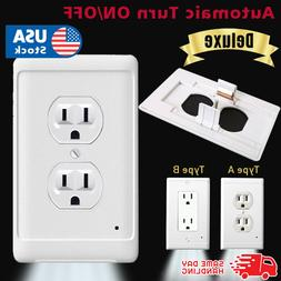 New Outlet Wall Plate Led Night Light Guidelight Cover Built