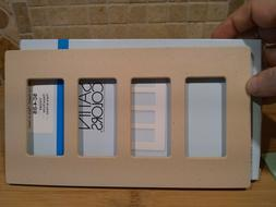 NEW Lutron SC-4 DS Claro 4 Gang Decorator Wallplate Screwles