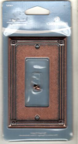 NEW BRAINERD Single Decorator - Sponged Copper Rocker Switch