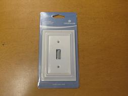 NEW Brainerd Single Switch Wall Plate Cover in White  #12633