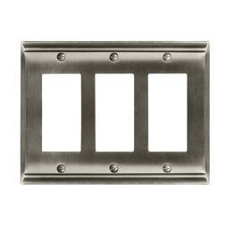 Amerock Nickel 3-Gang Decorator/Rocker Wall Plate