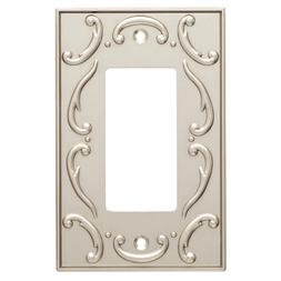 Nickel Decorator Wall Plate French Lace Brainerd W10373