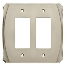 Nickel Double Decorator Wall Plate Brainerd W34479