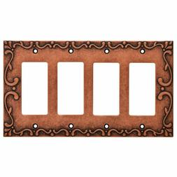 Nickel Quad Decorator Wall Plate Classic Lace Franklin Brass