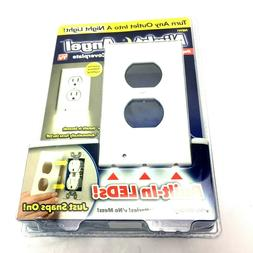 Duplex Night Angel Light Sensor Built In LED Plug Cover Wall