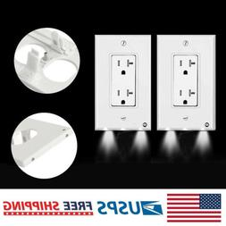 3/5/20Pcs Duplex Night Angel Light Sensor LED Plug Cover Wal