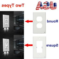 Night Angel Wall Outlet Cover plate With LED Lights Hallway