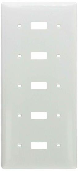 Bryant Electric Np5W Wall Plate, Standard, White