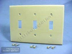 Leviton 80711I Nylon Triple Switch Wall Plate-IV 3-TOGGLE WA