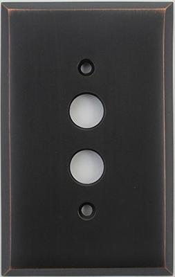 Classic Accents Oil Rubbed Bronze 1 Gang Push Button Light S