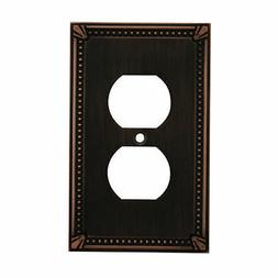 Oil Rubbed Bronze Single Duplex Wall Plate Plug Electric Out