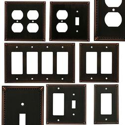 Oil Rubbed Bronze Switch Wall Plate Duplex GFCI Rocker Decor