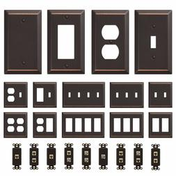 oil rubbed bronze wall switch plate outlet