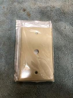 One Gang Smooth Line Wall Plate Ivory