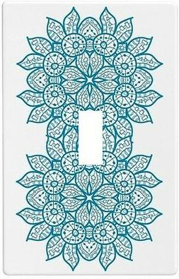 Oriental Blue Mandala Wall Plate Decorative Light Switch Pla