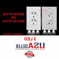 Outlet Wall Plate Led Night Lights Cover Duplex Decor With A