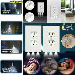 Outlet Wall Plate Led Night Lights Cover 5PC Duplex With Amb