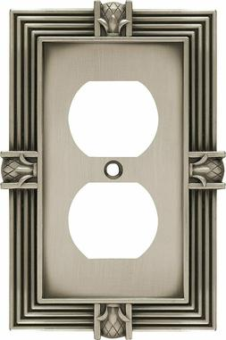 Outlet Wall Plate Pineapple Satin Pewter Franklin Brass 6446