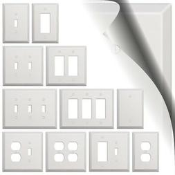 Oversized White Switch Plate Outlet Cover Rocker Toggle Dupl