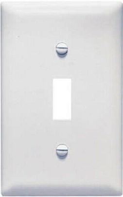 P & S TPJ1-W 1-Gang Toggle Switch Plate, Jumbo, Nylon, White