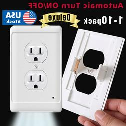 1-10pack Outlet wall plate led night lights Cover Duplex Amb