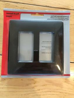 Pass And Seymour Legrand Black Two Gang Wall Plate Screwless