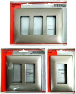 Pass & Seymour Screw-less Decorator Plastic Wall Plate 1-2-3