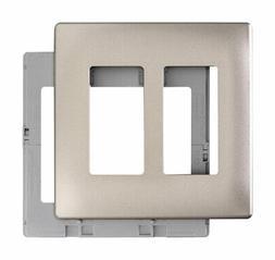 Pass and Seymour Screwless Decerator Wall Plate 2 Gang Nicke