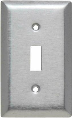 Pass & Seymour SL1CC25 Stainless Steel Wall Plate Single Tog