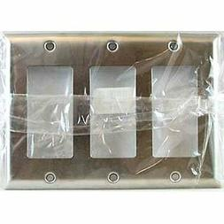 Pass & Seymour Smooth 3 Gang Decorator Wall Plate SS263 302
