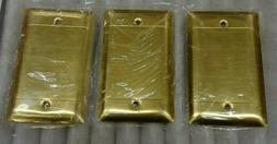Pass & Seymour Wall Plate Solid Polished Brass Wall Plate 1