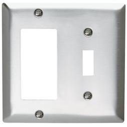 Pass & Seymour SL126CC5 Wall Plate Stainless Steel 430 Two G