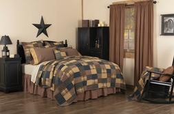 Patriotic Patch KING Quilt FARMHOUSE Bedding-Choose Accessor