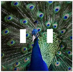 Beautiful Peacock Wallplate Decorative Switch Plate Cover (2