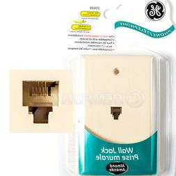 GE Phone Jack Wall Mount Plate Telephone Outlet 4-Wire Condu