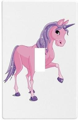 Pink & Purple Unicorn Wallplate Wall Plate Decorative Light