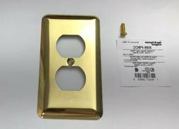 Pass & Seymour Polished Brass 1-Gang Duplex Receptacle Outle