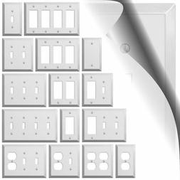 Polished Chrome Switch Plate Century Metal Wallplate Cover O