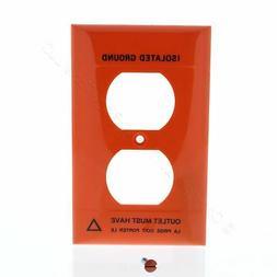 PS 1Gang Orange Duplex Receptacle Isolated Ground UNBREAKABL