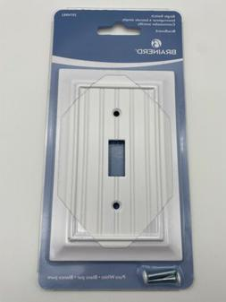Brainerd Pure White Beadboard Single Light Switch Wall Plate