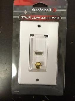 radioshack hdmi coax tv decorator wall plate