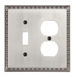 Amerelle Reaissance 1 Toggle 1 Duplex Wall Plate - Antique N