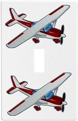 Red Airplane Wallplate Wall Plate Decorative Light Switch Pl