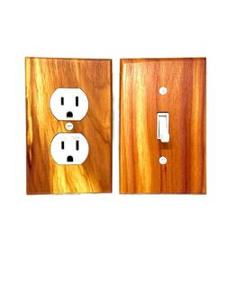 Red Cedar Switch Plate Covers Rustic Light Switch Cover Wood